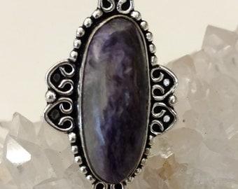 Charoite Ring, Size 6