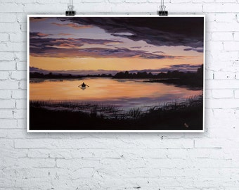 Lough Erne Sunset - Irish Landscape Scenery - Giclee Fine Art Print - Various sizes available
