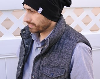 The Black Beanie, Slouchy Beanie, Baby Beanie, Soft Toddler Beanie, Toddler Hat, Cute Hat, Mom and Dad Matching Hat