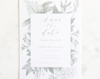 Calligraphy Save the Date // Semi-Custom Save the Date // Save the Date Suite // Wedding Invitation Suite // GARNET
