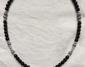 Pearl Necklace for BON JOVI fans necklace heart & dagger heart pendant silver new! USA tour 2017