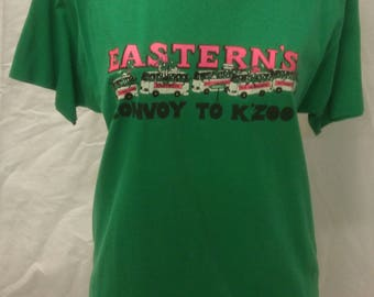 Vintage 1989 nice thin t-shirt of EASTERN EMU convoy to K'Zoo on Screen Stars brand tee size XL