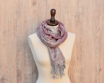 Scarf Pink Winter Scarf Shoulder Cover Snood Scarf Elegant Scarf Unisex Scarf Shoulder Cover Snood Scarf