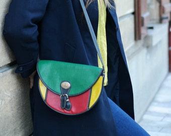Vintage multicolor LB PARIS handbag