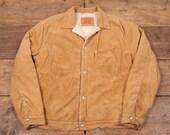 Mens Vintage Levis Red Tab Sherpa Corduroy Workwear Jacket Brown XL 48 R4731