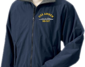 USS AMMEN DD-527  Embroidered Jacket   New
