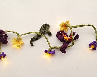 Spring Wild Flower Fairy Light Garland