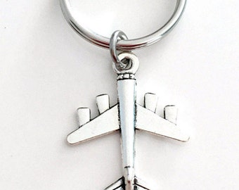 Plane Keychain, Airplane Keyring, Pilot's Key chain, Gift for Flight Instructor, Military Air Force Men Man Woman Women Travel Agent 38