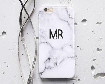 Custom Monogram Marble iPhone 7 Plus Phone Case iPhone 6 Case Personalized Initials Marble iPhone 4 Marble Phone Case iPhone 5c Case f014