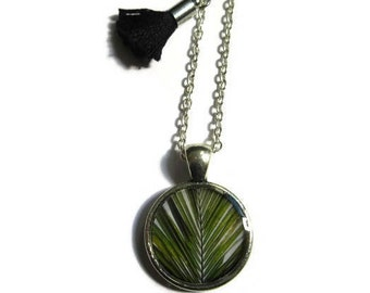 PALM TREE NECKLACE - Resin Palm Tree Necklace - Tiny Palm Tree Pendant - Leaf Necklace - Tropical Jewelry - Beach Necklace - for girl