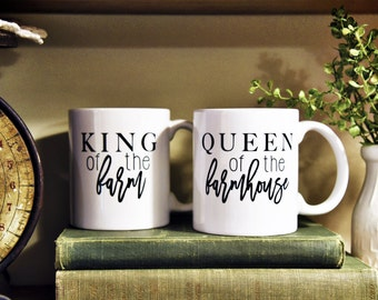 KING/QUEEN SET Farm/Farmhouse Coffee Mug Set of (2)