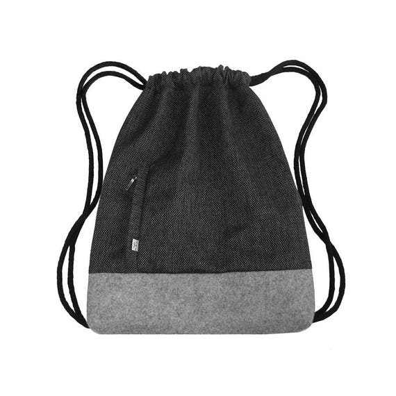 BACKPACK Drawstring Bag Felt Sack Bag Hipster Backpack with