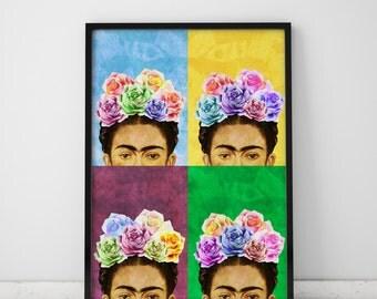 Wall Art Prints Frida Kahlo Print Frida Art Print Frida Kahlo Poster Pop Art Print Frida Kahlo Art Pop Art Poster Frida Kahlo Frida Print