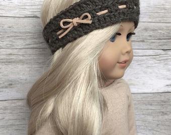 DIY Crochet Pattern – 18 inch Doll Cocoa Cowl and Head Warmer Set PDF 09 (Fits American Girl Dolls) – Digital Download