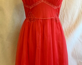 50% off Cherry Red Vintage Negligee sale