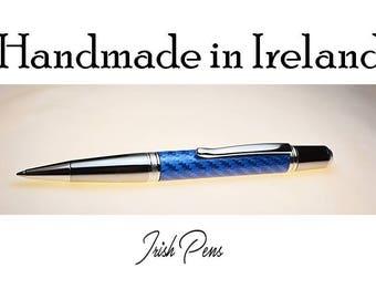 Pen Handmade in Ireland, Carbon Fibre pen, Boyfriend Gift, Formula 1, Modern Stylish Pen, Mans Pen, mans Valintines gift
