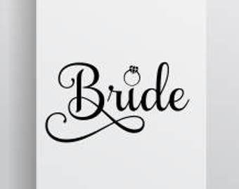Bride with ring SVG file; bride cut file; 99 cent svg