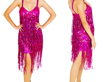 Sequin Fringe Dress - Traje Franja, Salsa Latin dress, Sequin Fringe Dress, Latin fringe dress, Latin dress, Latin dance dress, Robe Latine