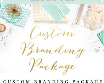 Custom Branding Package - Custom logo, Etsy banner and avatar, Business card, custom listing, reserved listing - Custom to fit your business