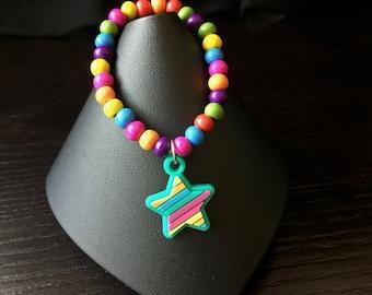 Rainbow Star Bracelet (Kids Jewelry)