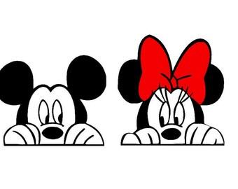 Mickey mouse svg,disney svg, minnie mouse svg, peeking mickey svg, peeking minnie svg, Mickey and minnie, Mickey head svg, Minnie head svg