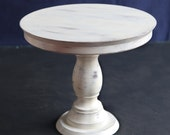 Distressed 21 cm wooden cake stand, rustic cake platter, shabby chic,handmade cake