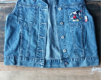 SALE// Mickey Mouse Denim Vest