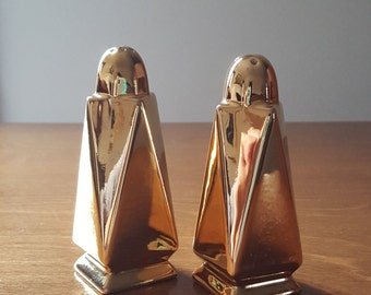 Mid century Royal Winton salt and pepper shaker set Golden Age pattern Made in England