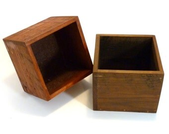 Handmade wooden centerpiece box. Made from reclaimed wood.