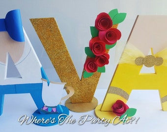 Beauty and The Beast Inspired Name Letters/Belle