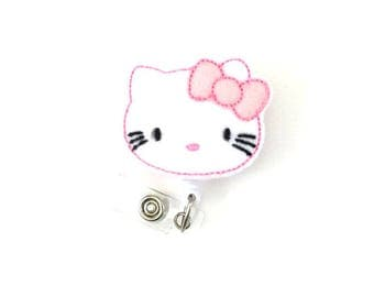 Kitty-Felt Badge Holder-Kitty Badge-Decorative Badges-Nurse Id Badge-Nurse Badge Holders-Lovely Badges-RN Badges-Cute Id Badges-Nurse Gift