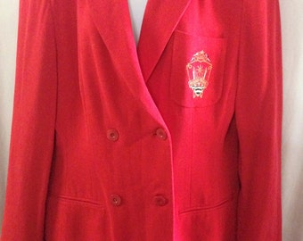 MONDI Sports Double Breasted Blazer, 1990's, Vintage, Excellent Condition, Size 10/12