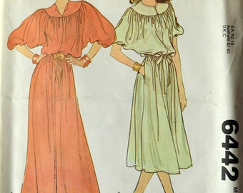 Uncut 1970s McCall's Vintage Sewing Pattern 6442, Size M; Misses' Dress