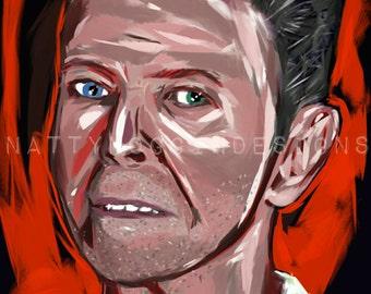 David Bowie Tribute Portrait, On Sale