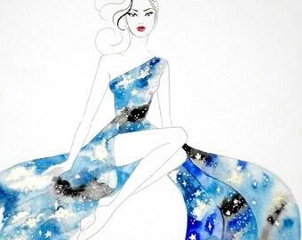 Dreamy Sky - Original Watercolor