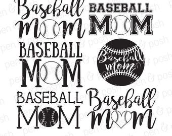 Baseball Mom SVG - Baseball SVG - Baseball Heart SVG - Baseball Mom Dxf - Baseball Mom Png - Baseball Mom Clipart - Baseball Mom Cut Files