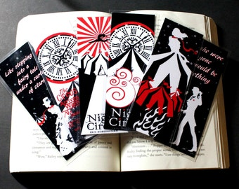 The Night Circus Bookmarks based off the novel by Erin Morgenstern Laminated Bookmark