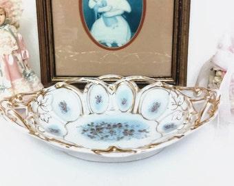 Antique Distressed Fruit Bowl, Decorative Victorian Fruit Bowl-Vintage Kitchen Decor
