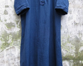 Cotton Linen vintage dress