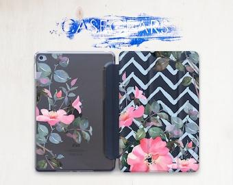 Pink Floral iPad Case iPad Pro 9.7 2017 Chevron iPad Case Flowers iPad Mini Case iPad 2 iPad Air Case iPad 10.5 Case iPad Pro 12.9 CGSC031
