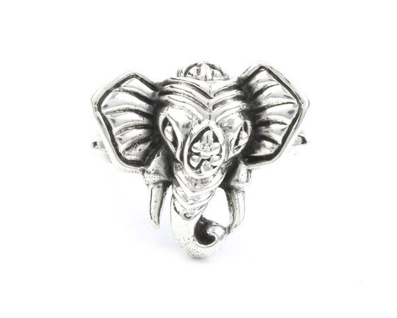 Gypsy Elephant Ring, Sterling Silver Elephant Ring, 925, Boho, Gypsy, Festival Jewelry, Good Luck Elephant, Animal Jewelry