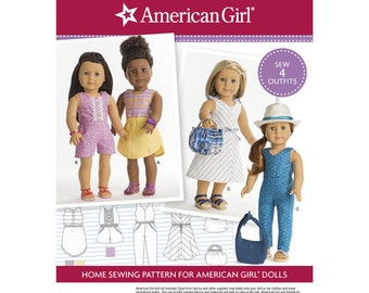 """Sewing Pattern for American Girl or  18"""" Doll Wardrobe , Simplicity Pattern 8191,  American Clothes Patterns, Modern Style"""