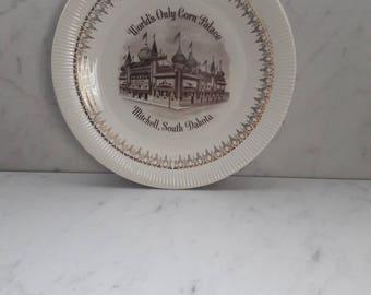 South Dakota Corn Palace Collectible Souvenir Plate, 1960s