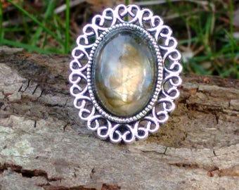 SALE Labradorite Ring, Adjustable Ring, Statement Ring, Bohemian Ring, Boho Ring, Bohemian Jewellery, Gemstone Ring, Labradorite Ring