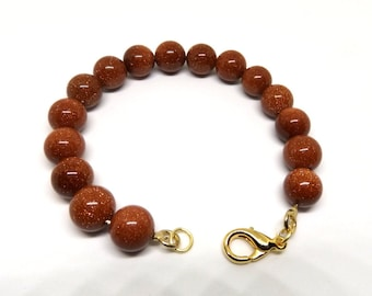Brown Goldstone Bead Bracelet