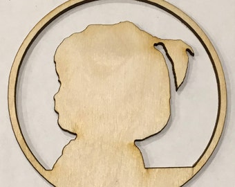 Silhouette Ornament - Laser Cut Christmas Tree Ornament - Free Shipping
