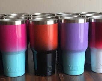 Powder Coated YETI Cup, Ombre YETI Cup 30oz