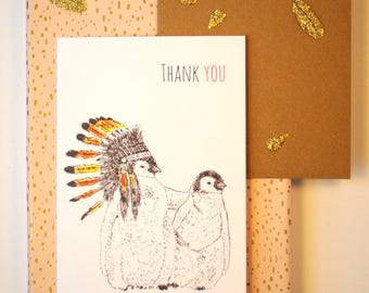Printed greeting Thank you card