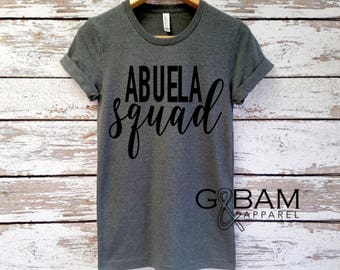 Abuela Shirt /Abuela Squad shirt / Abuela Gift / Grandma gift / future grandma / we're Pregnant