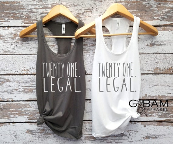 Birthday Party Tank top / 21st Birthday tank / 21st Birthday shirt / Twenty one and Legal tank